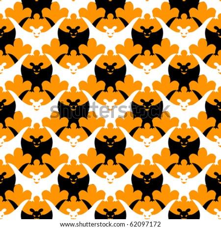 Halloween bat seamless.Vector background. - stock vector