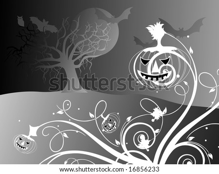 halloween black background illustration