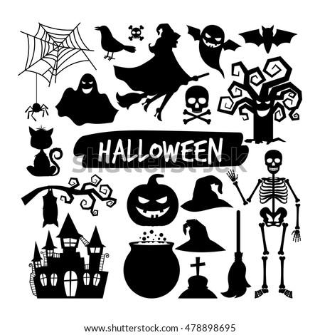 halloween black silhouettes happy halloween vector stock photo rh shutterstock com halloween vectors free download halloween vector images free