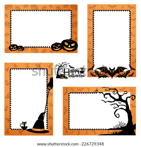Halloween Border Design Halloween Frames Design Stock Vector ...