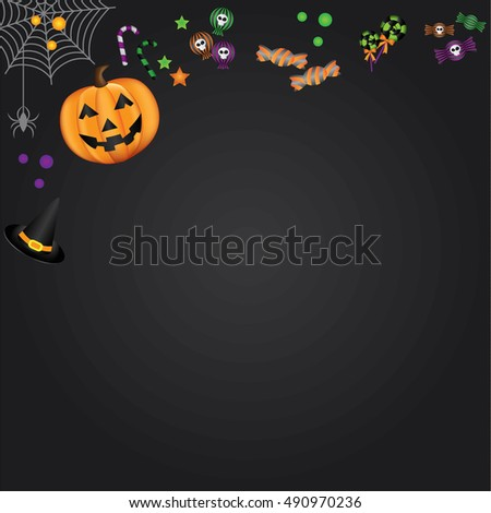 Halloween brochure design template vector.