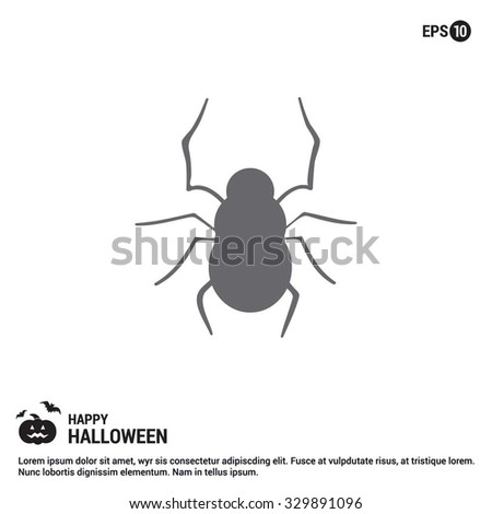 Halloween Bug icon. Halloween Gray pictogram elements collection.  simple minimal, flat, solid, mono, monochrome, plain, contemporary style. Vector illustration web internet design elements