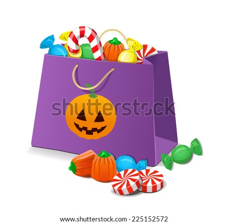 Stock Images similar to ID 38046178 - halloween trick or treat bag...