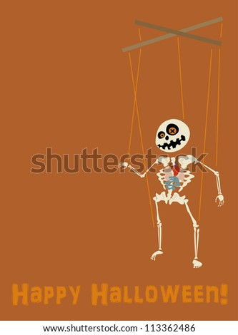 Halloween card - stock vector