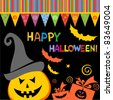 halloween card. Celebration background. invitation. vector illustration - stock vector
