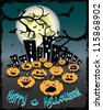 Halloween card vector illustration - stock vector
