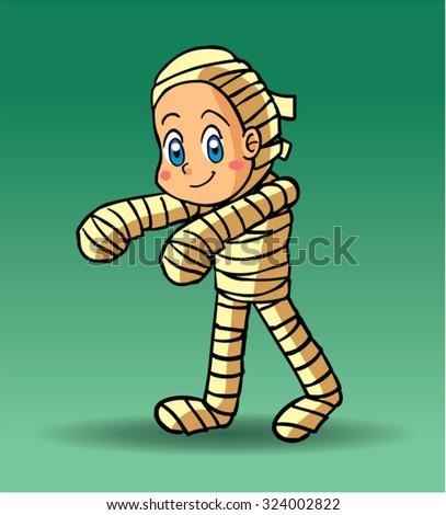 Halloween character mummy - stock vector