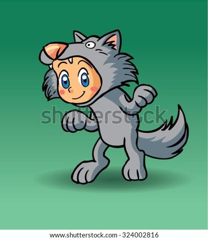 Halloween character werewolf - stock vector