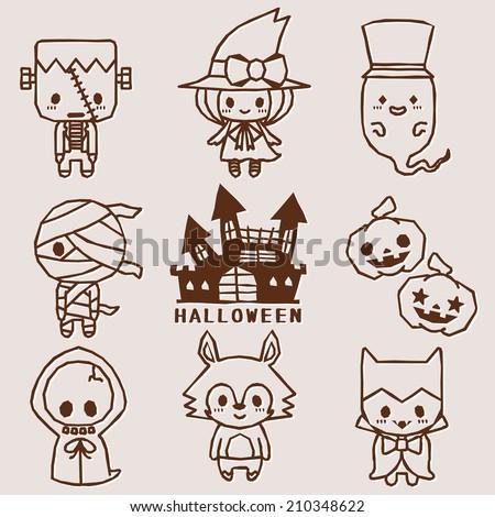 Halloween characters - stock vector