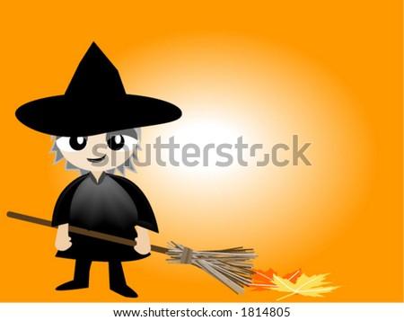 Halloween Costume Series: Witch - Vector - stock vector
