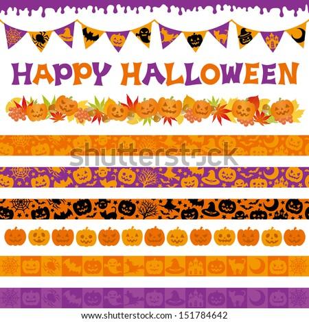 Halloween decorations - stock vector