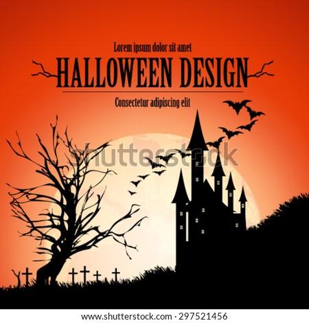 Halloween Design Background - stock vector