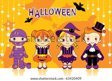 halloween doll - stock vector