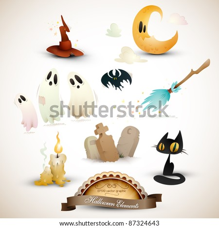 Halloween Elements Set | EPS10 Graphic | Objects Placed on Separate Layers Named Accordingly - stock vector