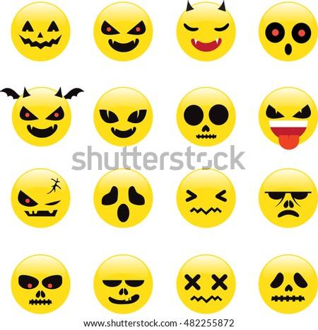 Halloween Emoji Stock Vector 482255872 - Shutterstock