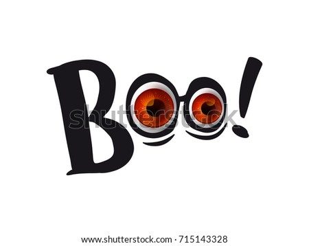 Halloween eyes boo letterimg realistic eyes stock vector 715143328 halloween eyes with boo letterimg realistic eyes on black silhouette vector illustration pronofoot35fo Gallery