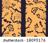 halloween forest - seamless pattern - stock vector