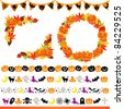 Halloween frame and line - stock vector