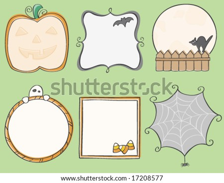 Halloween Frames - stock vector