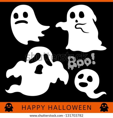 Halloween Ghost Stock Vector 131703782 - Shutterstock