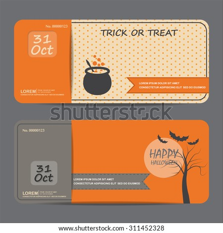 Halloween gift voucher certificate coupon invitation stock photo halloween gift voucher certificate coupon invitation party card background web page design template yelopaper Images