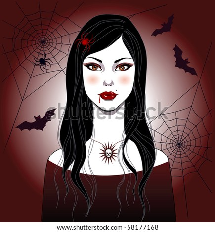 Halloween girl - stock vector
