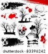 Halloween horror elements represent death - stock vector