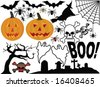 Halloween Icon Vectors - stock vector
