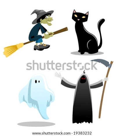 Halloween Icons-vector - stock vector