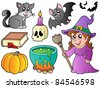 Halloween images collection - vector illustration. - stock vector