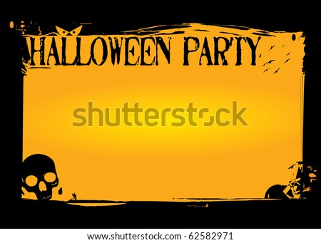 Halloween Invitation or flyer - stock vector