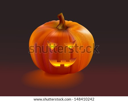 Halloween jack o lantern  pumpkin at night. Mesh used.