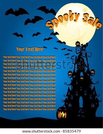 Halloween Layout, Newspaper ad, flyer, invite - stock vector