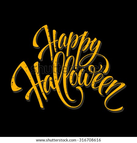 Halloween lettering greeting card EPS 10 - stock vector
