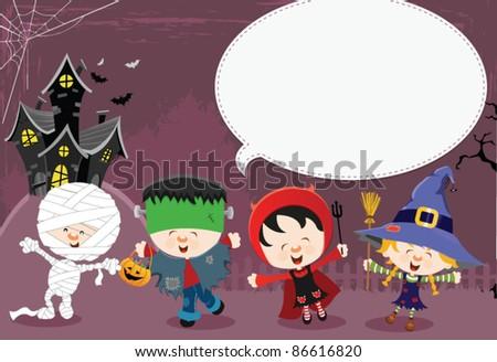 Halloween Message - stock vector