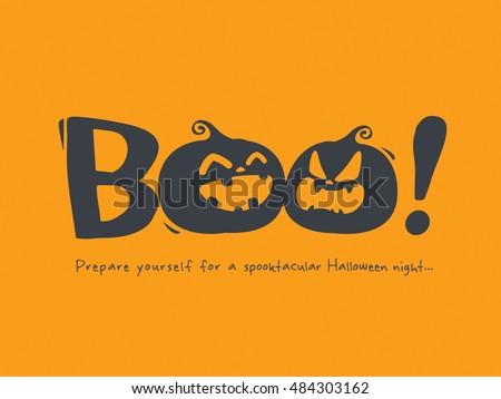 halloween message boo stock vector royalty free 484303162