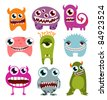 Halloween monster set - stock vector