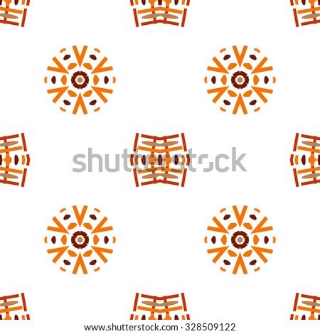 Halloween Orange and Brown Patterns. Vector seamless pattern. Repeating geometric.