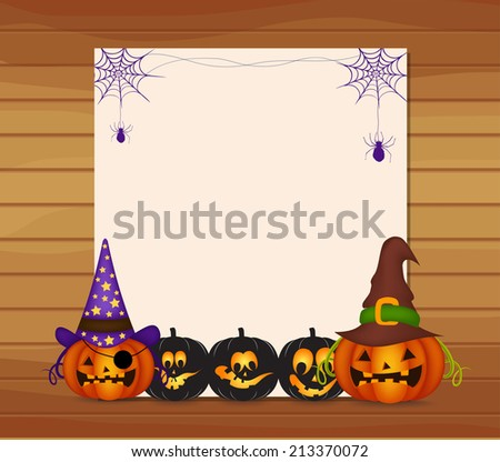 Halloween parchment - stock vector