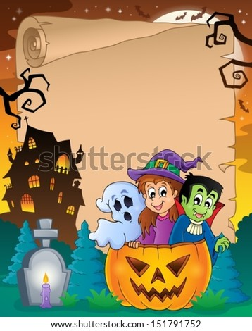 Halloween parchment 5 - eps10 vector illustration.