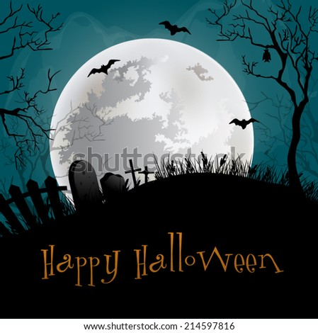 Halloween Party Background. - stock vector