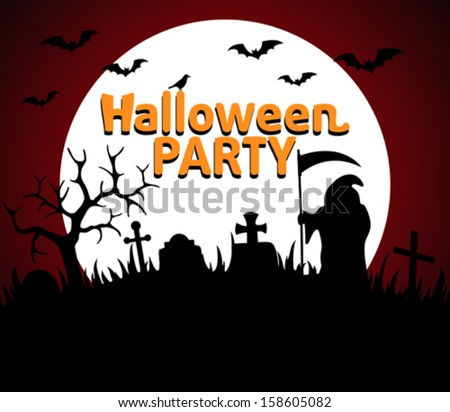 Halloween Party background red vector