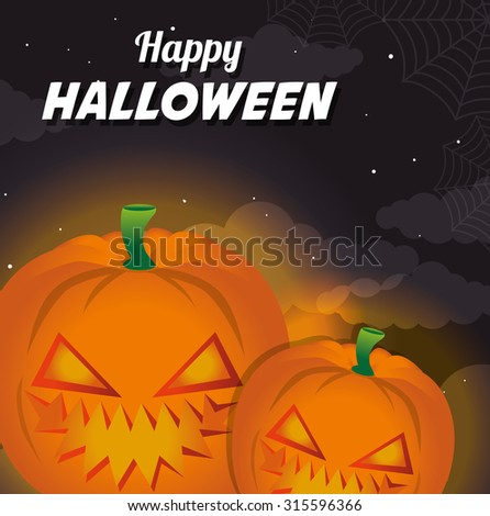 Halloween party design, vector illustration eps 10. - stock vector