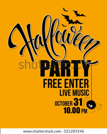 Halloween party. Happy holiday. Vector illustration EPS 10 - stock vector