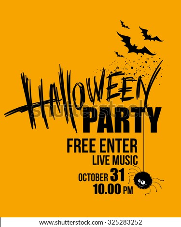 halloween party happy holiday vector illustration eps 10 - Holloween Party