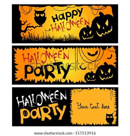 Halloween party invitation. Vector illustration - stock vector