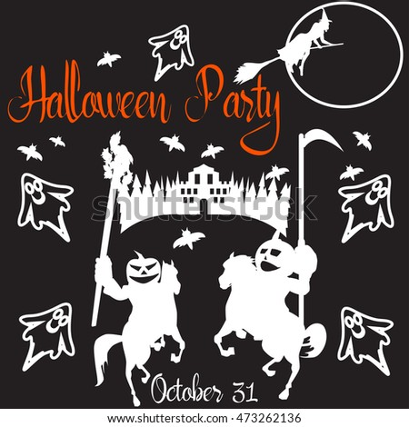 Halloween Party poster. Vector illustration