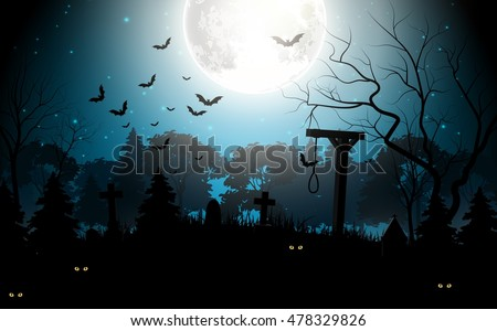Halloween party scary background .Vector illustration