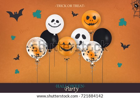 halloween party trick treat holiday designのベクター画像素材