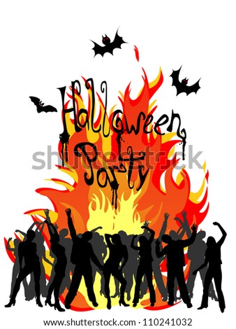 Halloween party - vector - stock vector